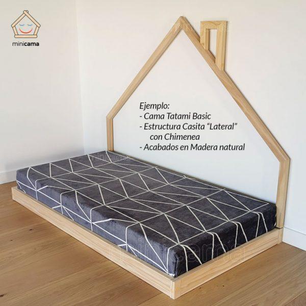 Cama Tatami Basic , modelo a ras de suelo